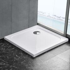 [neu.haus]® Duschwanne 90x90cm reinweiß Duschtasse quadratisch extra flach Bad