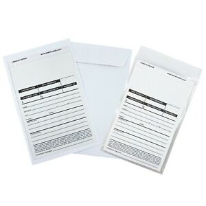 Jewelry & Watch Repair JOB Triplicate 3-part forms Envelopes & Poly Bags 50ct