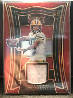 2020 Select Jordan Love RS-JLO RC Red Prizm Jersey Patch ROOKIE Packers
