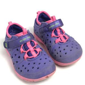STRIDE RITE M2P PHIBIAN Shoes Purple Pink Toddler Girls 6 Hook And Loop
