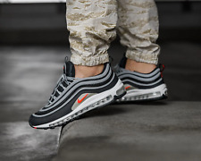 BNWB & Authentic Nike ® Air Max 97 Essential Anthracite Grey Trainers UK Size 8