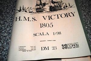 HMS VICTORY Model Ship Kit - Plans Only Scale DM23 COREL 1:98 (NO PARTS)