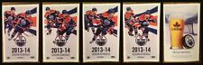 2013-14 Edmonton Oilers Set of 4 Different Pocket Schedule Taylor Hall Eberle