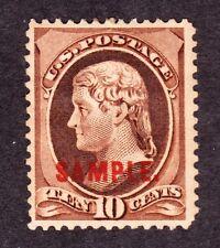 US 209SK 10c Webster Specimen OG H SCV $75