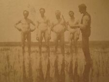 ANTIQUE ARTISTIC FUNNY NEAR NUDE FISH STICKS HIDDEN JEWELS UNREAL GAY INT PHOTO