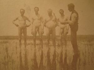 ANTIQUE ARTISTIC FUNNY NEAR NUDE FISH STICKS HIDDEN JEWELS UNREAL GAY INT PHOTO