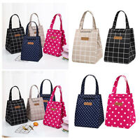 Waterproof Women Kids Picnic Food Box Tote Carry Bag Insulated Thermal Bag Lunch