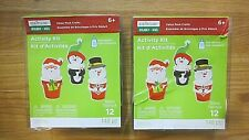 Christmas Treat Cups Activity Craft Lot of 2