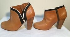 Size AU 7 / EUR 38 / UK 5 / US 7 Women's Leather Chunky Heels / Shoes / Mules