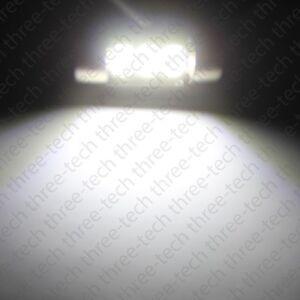 """2x WHITE 3 SMD LED Bulbs Car Interior Dome Lights 1.25"""" 31mm DE3175 DE3022 D31"""