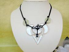 Bergkristall, Jade grün, Magnesit Halskette EDELSTEN SCHMUCK KREATION