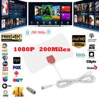 HDTV 1080p 200 Mile Range Antenna TV Digital HD Skywire 4K Antena Digital Indoor