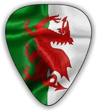10 Wales ~ Welsh Flag ~ Guitar Picks ~  Printed Both Sides