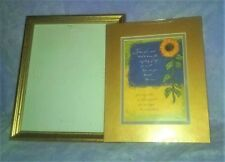 Sunflower Art Lithograph & Picture Frame Sympathy Inspirational Grief GIFT Set