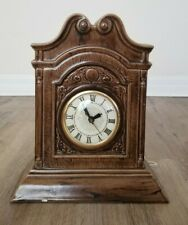 Vintage Ceramic Mantel Clock Holland Mold Lanshire Self Starting Handmade