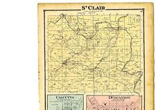 Antique 1870 Map of St. Clair, Ohio w/family names from Atlas of Columbiana Cty