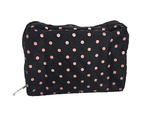 LeSportsac Extra Large Rectangular Cosmetic Case, Rose Speckle Dot new