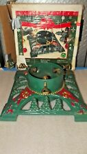 "Vintage Innova Hand Painted Cast Iron Christmas Tree Stand 13 1/2"" x 13 1/2"""