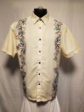 Milano bay hawaiian casual short sleeve button front shirt floral large