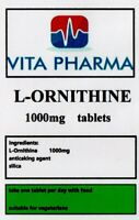 HIGH STRNGTH L-ORNITHINE 1000mg 30 Tablets, MUSCLE MASS EXCESS NITROGEN