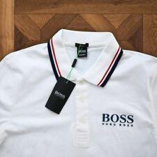 HUGO BOSS T Shirt Polo Size M White Cotton Genuine For Men 2020 Slim Fit