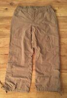 The North Face Women's Small Tan Nylon Stow Pocket Cropped Capri Hiking Pants
