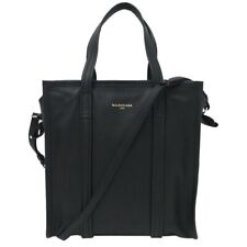 New Balenciaga Bazar Shopper S Small Leather Tote Bag Handbag Black 443096 DL1ON