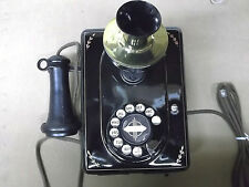 OLD STEEL HOTEL PHONE WITH REPRODUCTION PARTS