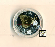2004 Butterfly Gold-Plated Clouded Sulphur 50ct Silver Coin  (11242) (OOAK)