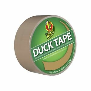Duck Brand 283264 Color Duct Tape, Beige, 1.88 Inches x 20 Yards, Single Roll
