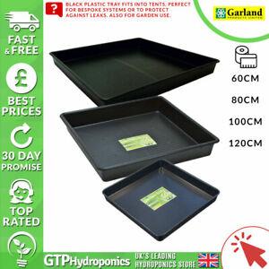 Garland - Black Square Plastic Tray - 60cm / 80cm / 1m / 1.2m - Hydroponics