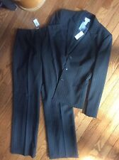 NWT ~ Ann Taylor Loft  Fully Lined Women's Gray  Pinstripe Pant Suit Size 8/12