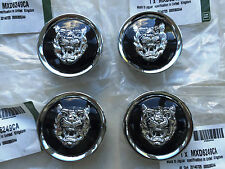 Genuine Jaguar Noir/Argent Roue Alliage Centre Cap Badges New MXD6249CA NEUF