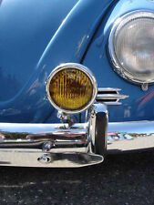 "VW H3 HALOGEN 12v 5"" VINTAGE AMBER FOG LIGHTS CHROME BUG BUS KARMANN GHIA TYPE 3"