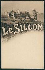 France LE SILLON Catholic France Political caricature original 1900s postcard