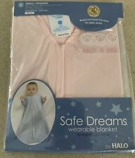 Safe Dreams Wearable Blanket by Halo Small 0-6 mos Baby PJs Pink Sleep Blanket