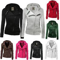 Women Warm Winter Hoodies Fleece Sweatshirt Zip Hooded Coat Jacket Pullover Tops