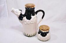 Paul Cardew Cow Teapot & Sugar Box