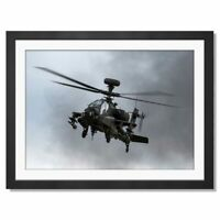 A3  - Apache Military Helicopter WAH-64D Framed Prints 42X29.7cm #12468