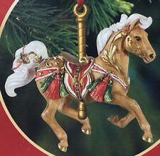 A8 Breyer Horse Winter Winds Carousel Ornament Holiday Palomino Christmas