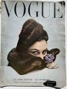 1949 Vogue Paris 40s vintage Paris couture gowns Schiaparelli Dior Balenciaga
