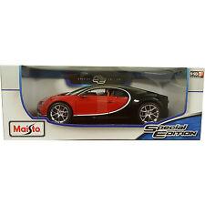 Maisto Bugatti Chiron 1:18 Diecast Model Car Red / Black