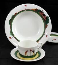 Christopher Stuart FAIRWAY Rim Soup Bowl, Cup, 2 Saucers VERY GOOD CONDITION