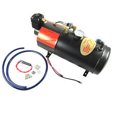 150PSI DC 12V TRUCK PICKUP ON BOARD AIR HORN AIR COMPRESSOR WITH 3 LITER TANK