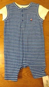 BNWT baby boy M&S summer dungaree outfit. RRP £14. 6-9 mths.           (1/10)