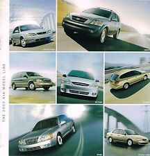 2003 KIA Brochure w/ Color Chart: SPECTRA,SORENTO,SEDONA,OPTIMA,RIO,CINCO,GSX,