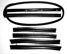 NEW! 1964-1968 Mustang Convertible Top 5 Piece Weatherstrip Kit Header, Sides