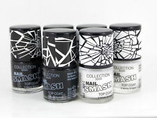 Collection 2000 Crackle Top Coat Black & White Polish Varnish Enamel Set of 2