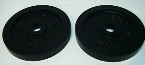 """Pair Marcy 7 1/2lb (7.5lb , 15lbs total) 7.5""""dia 1""""Hole Barbell Plates/Weights"""