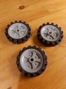 Knex Black Trye Wheels..65mm In Diameter...x3